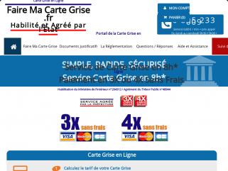 Service de carte grise en ligne Agréé par le Ministère de l'Intérieur.Recevez votre certificat d'immatriculation en 24H sans passer par la préfecture.