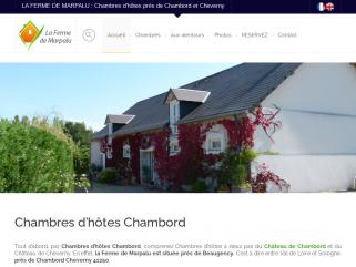 Chambres et table d'hôtes près de Chambord, Cheverny et Blois en pleine Sologne