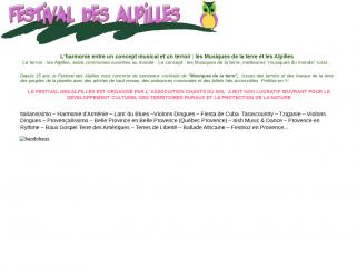 En Provence, le Festival des Alpilles et des Musiques de la terre