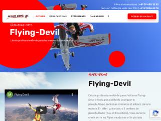 École professionnelle de parachutisme sur Vaud, Valais et Fribourg.