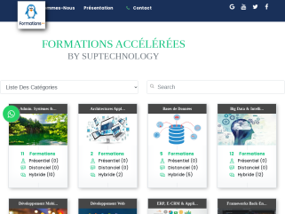 Site de vente de formation en IT