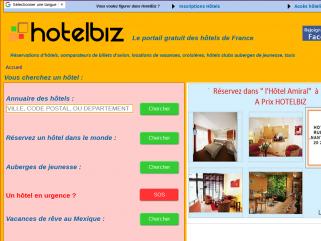 Hotelbiz Le portail de tous les hôtels de France Réservation d'hôtels en direct partout dans le monde plus de 250.000 hôtels.Spécialiste du Mexique