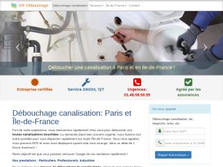 Débouchage canalisation Paris IDF: Dégorgement, curage 7j/24h