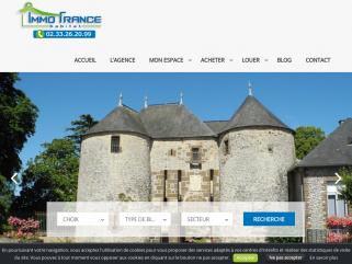 Agence immobilière Immo France Habitat en basse Normandie, Achat Vente de biens immobiliers, rédaction de compromis, accompagnement jusqu'à la signature chez le notaire.
