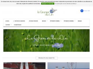 Vente en ligne et en magasin d'articles en lin dans les Flandres.