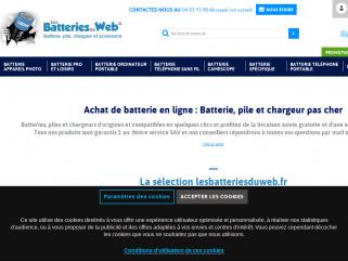 Achat batterie et chargeur - Les Batteries Du Web : Vente batteries de haute qualité pour appareils