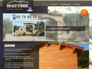 Gérard Eynard est artisan à Saint Félicien en Ardèche spécialisé dans les travaux de restauration patrimoine, aménagement pmr ou handicapes