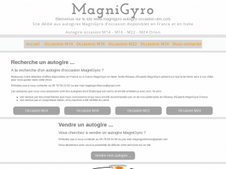 Site officiel Magnigyro France autogire autogires occasion occasions M14 M16 M22 M24 gyrocopter autogyro