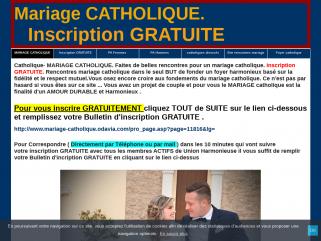 Mariage CATHOLIQUE. Inscription GRATUITE, mariage catholique