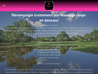 Massage fibromyalgie