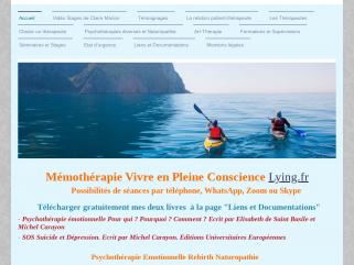 Mémothérapie Lying Pleine Conscience  Michel Carayon Psychopraticien   Naturopathe