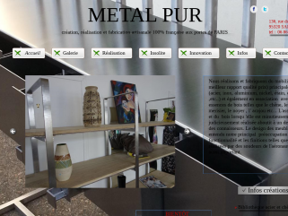 Création de mobilier en métal industriel, en acier, en inox, en aluminium et bois massif .