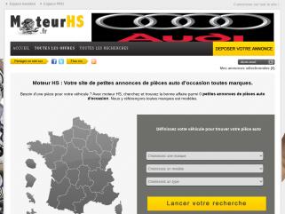 Moteurhs.fr annonce de pieces auto occasion de particulier à particulier