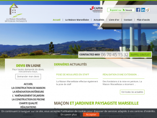 La Maison Marseillaire. Rénovation d'appartements, construction et rénovation de villas, aménagement de jardins sur Marseille et les Bouches du Rhône (13).