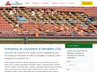 Couvreur Versailles 78000: Couverture toiture, couvreur zingueur