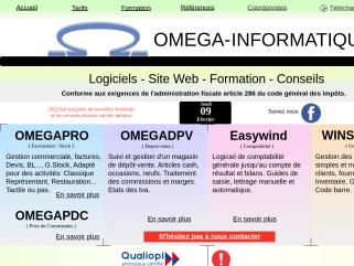 OMEGA-INFORMATIQUE vente de logiciels de gestion, facturation, gestion de stock, dépôt-vente, comptabilité, pour Windows.
