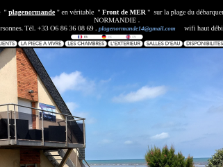Location gite villa front de mer normandie