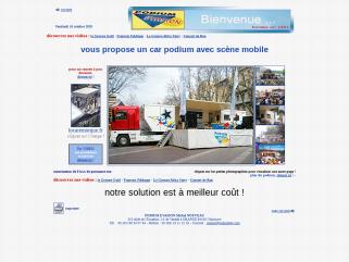 Car podium ou camion podium avec scène mobile de 47 m2 partout en France Spectacle, animation