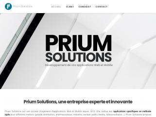 PRIUM SOLUTIONS - Editeur de logiciels spécifiques et Open Source