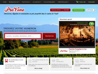 ProVino - le plus grand shop de vins suisses!