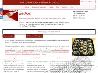 Reclips Franse Traiteur patissier Antwerpen