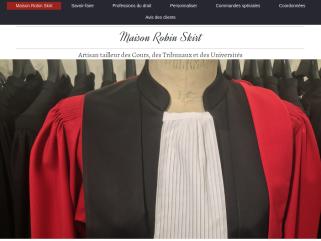 Robin Skirt - Robe Avocat : Tout notre savoir-faire pour une robe d'avocat d'exception selon vos mesures, prises sur le lieu de votre choix.