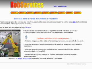 RobServices EI, prestations en robotique industrielle