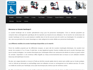 Scooter Handicape | Tout sur ScooterHandicape.fr