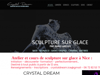 Sculpture sur glace, crystaldream mario AMEGEE