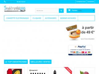 Cigarette électronique e-liquide en ligne pas cher smoktronike.com