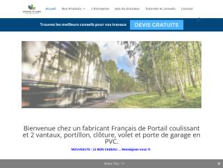 Stock Flash vente de portails et clôtures PVC en Kit