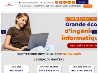 SUPTECHNOLOGY, Ecole supérieure Casablanca, Ecole sup privée en licence et Master