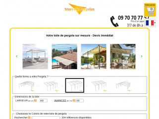 TOILE DE PERGOLA OU TONNELLE SUR MESURE | toiledepergola.com