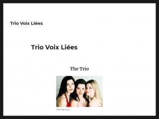 Trio voix liées - deux voix et piano