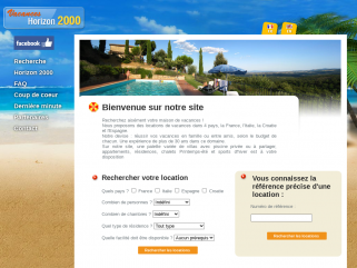 Location villas Vacances horizon2000