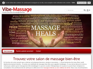 Vibe-Massage : trouvez votre salon de massage bien être par catégorie