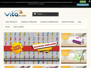 Vita-flyer : Imprimez vos flyers, depliants, tracts, prospectus, tetes de lettres cartes de visite et affiches aux meilleurx prix. Vita-flyer est le specialiste de l'impression off