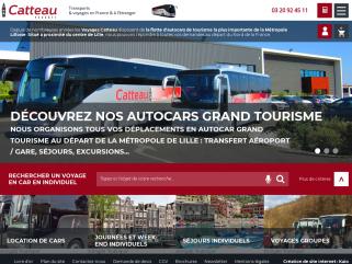 Autocar Lille (Nord - 59) : Voyages Catteau : Transports, excursions en car et autobus.