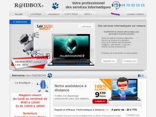 Raidbox, magasin à Davézieux spécialisé dans la création de sites internet, assistance à distance, le dépannage en ligne.