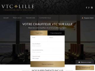 Site de réservation de chauffeurs privés VTC à Lille et environs