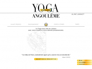 Yoga l'atelier Angoulême